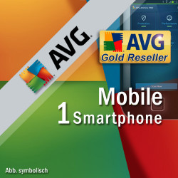 AVG Mobile AntiVirus Security PRO 1 Smartphone / Tablet with Android 1 Year