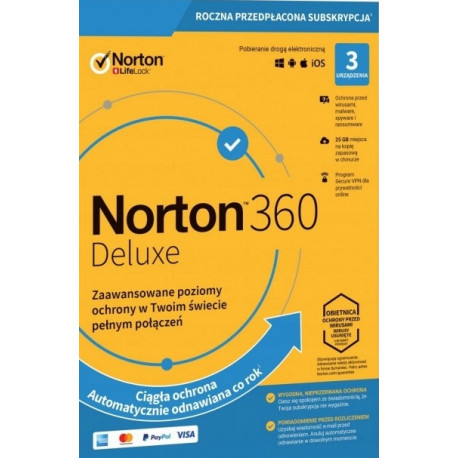 NORTON 360 STANDARD 3 PC 1 ROK