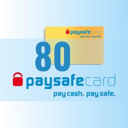 PaySafeCard 80 zł ( 50 + 30 ) PSC