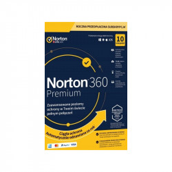 NORTON 360 Premium 10 PC/ 1 rok /nie wymaga karty/